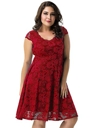 Plus Size Vrouwen Fashion Kant Kleine Jurk Taille Was Dun Temperament Cocktail Jurk Jurk Prinses Rok