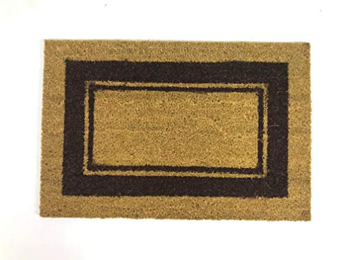 De'Carpet Felpudo Coco Cenefa Marrón Económico Natural (80X120cm)