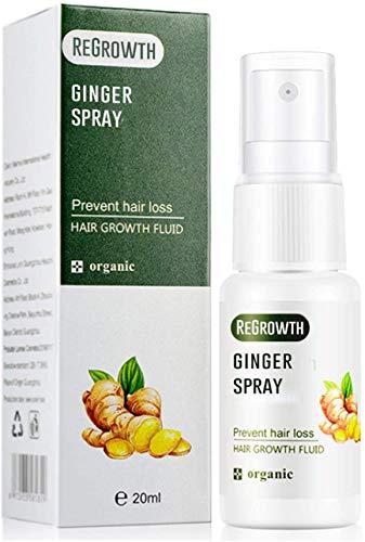 3 PCS 20ML Hair Regrowth Ginger Spray,Biotin Hair Serum for Hair Growth,Fast Hair Growth Dense Regrowth Ginger serum Oil Anti Loss,Natural Hair Regrowth Treatment for Men Women (3 PCS)