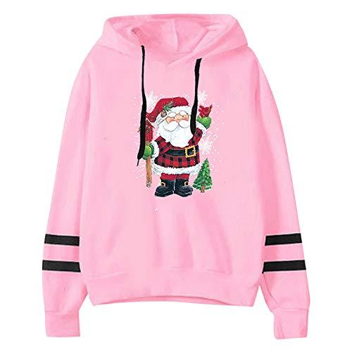 CHMORA Sudadera con capucha para mujer, con estampado navideño, con capucha, para regalo para ella.