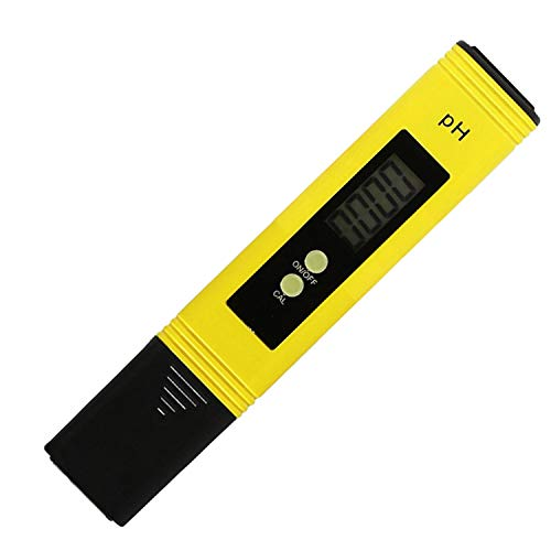Risantec Digital PH Meter Tester Best For Water Aquarium Pool Hot Tub Hydroponics Wine - Push Button Calibration Resolution 01  High Accuracy - 05 - Large LCD Display