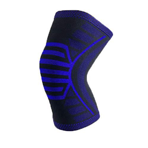 Kaftor - Rodilleras deportivas, rodilleras deportivas, aptas para fitness, ejercicio, correr a pie, rodilleras unisex (75 kg-101 kg), color azul