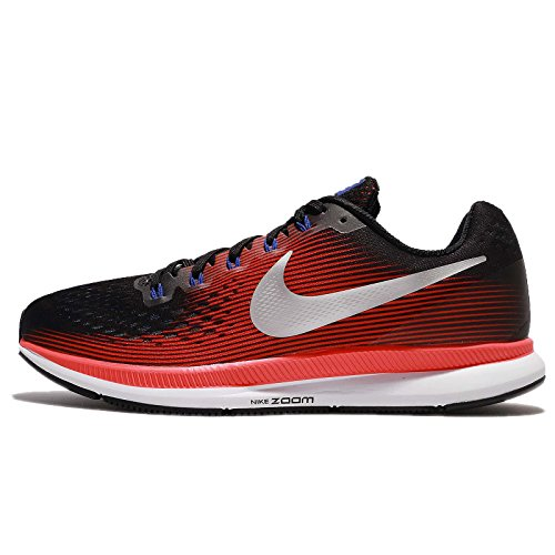 Nike Air Zoom Pegasus 34, Scarpe da Running Uomo, Nero (Black/Mtlc Silver/BRT Crimson/006), 47 EU