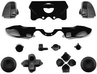 canamite® Xbox One Elite コントローラー対応用 バンパー トリガー ボタン一式 交換パーツ プラスチック製 (ブラック)