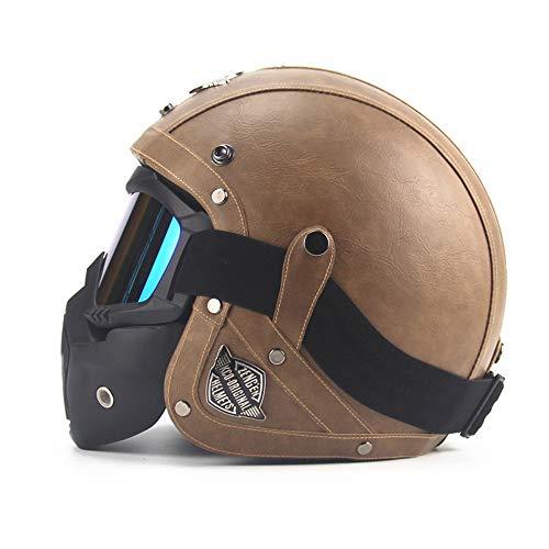 CARACHOME Helm Regenschutz, Quad Helm mit Maske,Motorrad Helm für Männer und Frauen. geeignet für Scooter Bike CS Spiel Motorrad,XL(61to62)