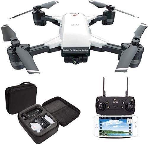 GPS-drone met camera - RC-drones voor beginners, WiFi FPV-drone met / 1080P HD-camera/APP-besturing/trajectvlucht/hoogtebewaking/zwaartekrachtsensor,VR-game,voor volwassenen en kinderen
