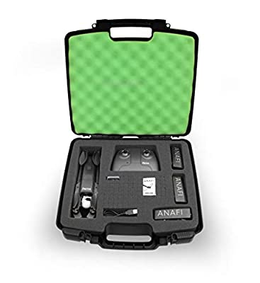 Casematix Quadcopter Case for Parrot Anafi 4k HDR Drone, Skycontroller 3, Batteries, Propellers and Accessories