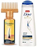 Indulekha Bhringa Hair Oil, 100ml & Dove Intense Repair Shampoo, 340ml