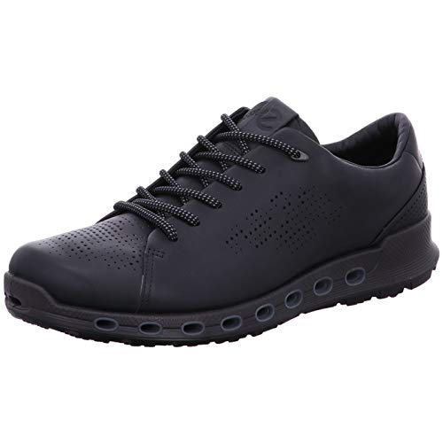 ECCO Men's Cool 2.0 Leather Gore-TEX Sneaker, Black Retro, 10-10.5