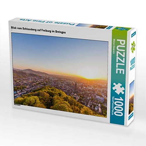 CALVENDO Puzzle Blick vom Schlossberg auf Freiburg im Breisgau 1000 Teile Lege-Größe 64 x 48 cm Foto-Puzzle Bild von Werner Dieterich