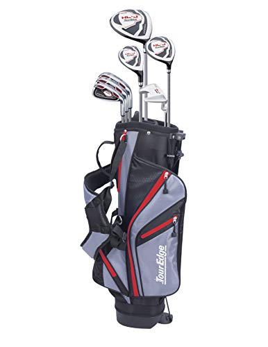 Tour Edge HL-J Junior Complete Golf Set with Bag (Right Hand, Graphite, 1 Putter, 3 Irons, 1 Hybrid,...