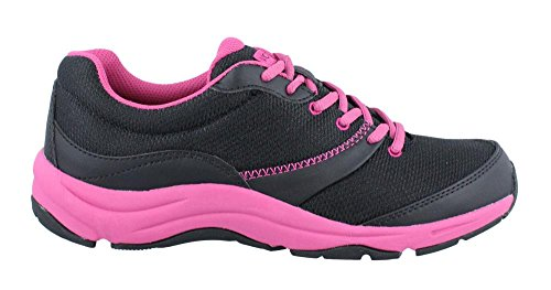 Vionic Women's Action Kona Lace-up Walking Fitness Shoes - Ladies Sneakers with Concealed Orthotic Arch Support Black 8  W US