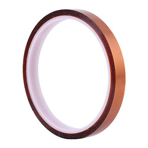 Akozon High Temperature Resistant Klebeband Roll 10mm*30 mt Selbstklebende Hochtemperatur Hitzebeständige Isolierband für PCB SMT Löten, Pulverbeschichtung, Sublimation, Isolierender Leiterplatten