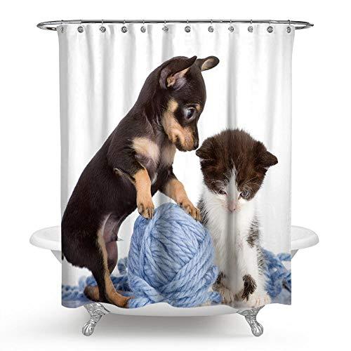 lxianghao Antischimmel Wasserdicht Stoff Polyester Shower Curtains Tiere Katzen Und...