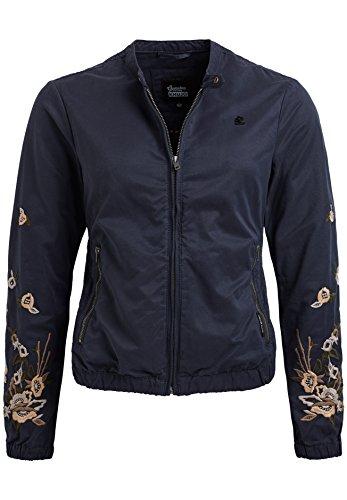 khujo Damen Orianna Embroidery Jacket Jacke, Blau (Dark 405), 40 (Herstellergröße:M)