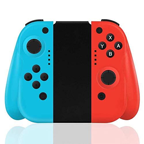 FiiMoo Nintendo Switch Wireless Controller,Wireless Joy-con para Switch,Gamepad Bluetooth Joystick Controlador Construido en Giroscopio y Motor de Vibración (Rojo y azul, productos de terceros)