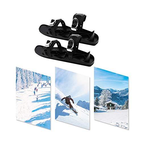 YUY 1 Par De Mini Patines Zapatos De Nieve Unisex Snowboard Snowboard De Invierno para Deportes Al Aire Libre,Black