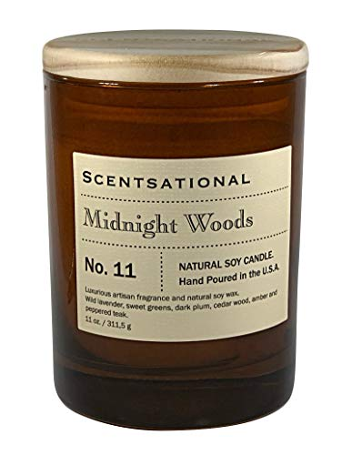 Scentsational Midnight Woods Candle, Ivory