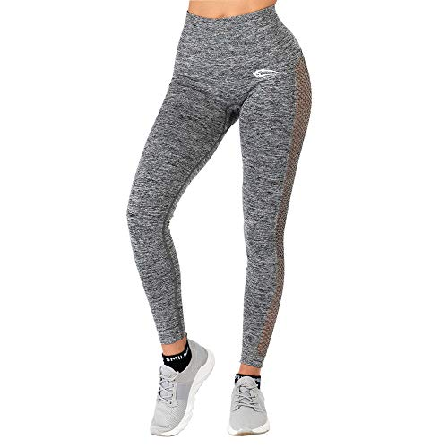 SMILODOX Seamless Damen Leggings Catch, Farbe:Anthrazit, Größe:XS