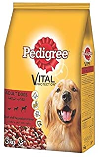 Pedigree Beef & Vegetables, Dry Dog Food (Adult), 3kg