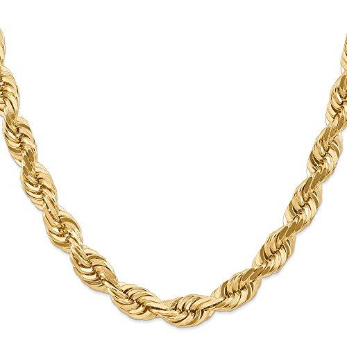 Diamond2Deal - Collana in oro giallo 14 kt, 10 mm, lunghezza 55,9 cm, per uomo e donna