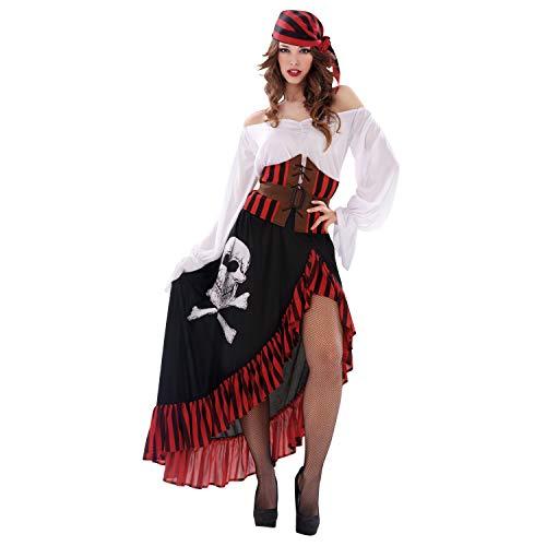 Desconocido My Other Me-200626 Disfraz de pirata bandana para mujer, M-L (Viving Costumes 200626)