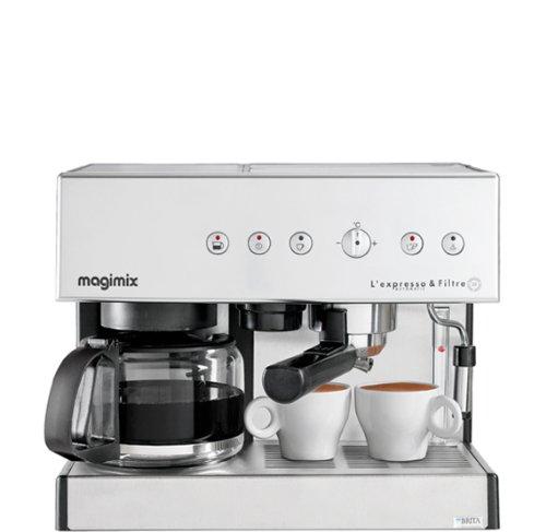Magimix Espresso & Filtre Automatic Independiente - Cafetera (Independiente, Cafetera combinada, 1,8 L, Dosis de café, De café molido, 2010 W, Cromo)
