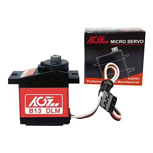 AGFrc Sub-Micro Servo Motor - Upgrade Metal Case Titanium Geared 13g 3.8kg Mini Servo for 1/14 1/18 1/24 RC Cars RC Planes