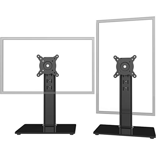 Hemudu Monitor Ständer Tischständer für 13 Zoll-32 Zoll Monitore, schwenkbar, neigbar, rotierbar, höhenverstellbar schwarz HT05B-201P