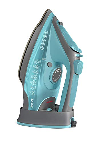 Black+Decker BD BXIR2201IN 2200-Watt Cord & Cordless Steam Iron (Green)