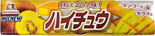 【販路限定品】森永製菓 ハイチュウ ゴールデンマンゴー味&キウイ味 12粒×12個