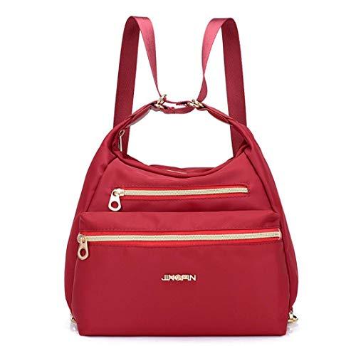 Zenguen - Borsa a Tracolla da Donna, da Viaggio, per la Scuola, Colore: Rosso