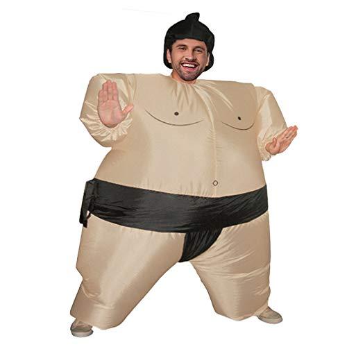 Yeliu Divertidos Juegos de Sumo Disfraces Fiesta Cosplay Disfraz de explosión para Adultos/niños Negro Adulto