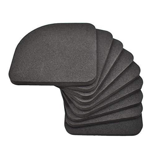 Liwein Anti-Vibrations Pads,32 Stück Kühlschrank Unterlegscheibe Stille Füße Pads Waschmaschine Shock Pads Multifunktionale Stoßfest Anti Rutsch Matten für Elektro-Appliance Tisch Möbel Bodenschutz