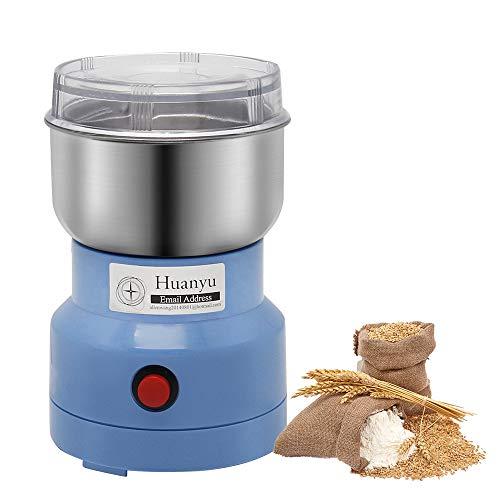 Huanyu 250W Getreidemühle Elektrische Gewürzmühle 150g Kornmühle 30-60s Kräutermühle Multi Zerkleinerer für Kaffeebohnen Gewürz Pfeffer Kräuter Nüsse Medizin Pistazien Mandeln (250w 150g Blau1)