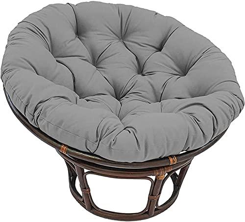 Cojín de la chaise Lounge, Cojín de silla de mecedora redonda suave de primera calidad, Cojín de asiento de radar de espuma de memoria original - verde 110x110cm ( Color : Grey , Size : 130x130cm )