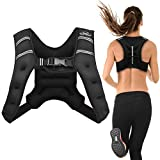 Aduro Sport Weighted Vest Workout Equipment, 4lbs/6lbs/12lbs/20lbs/25lbs Body Weight Vest for Men, Women, Kids (4 Pounds (1.81 KG))