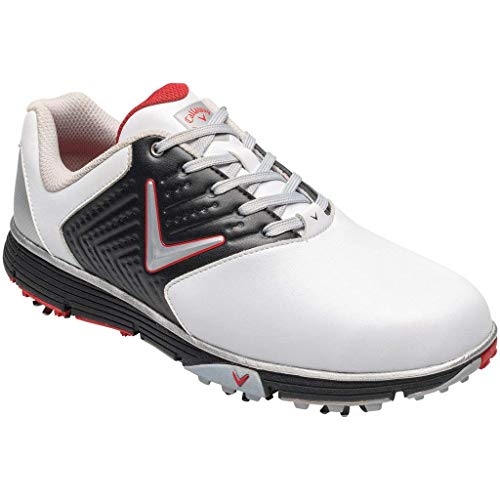 Callaway Chev Mulligan S, Zapatillas de Golf Hombre, Blanco (White/Black/Red White/Black/Red), 40 EU
