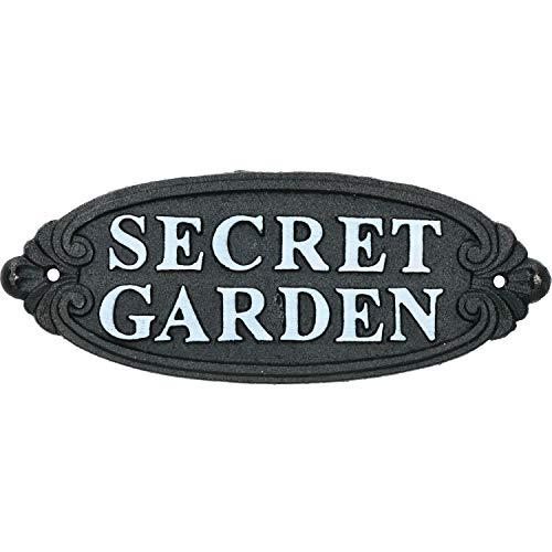 AB Tools Jardin Secret Signe Fonte Porte Plaque Porte Mur Rustique Poteau de Cloture