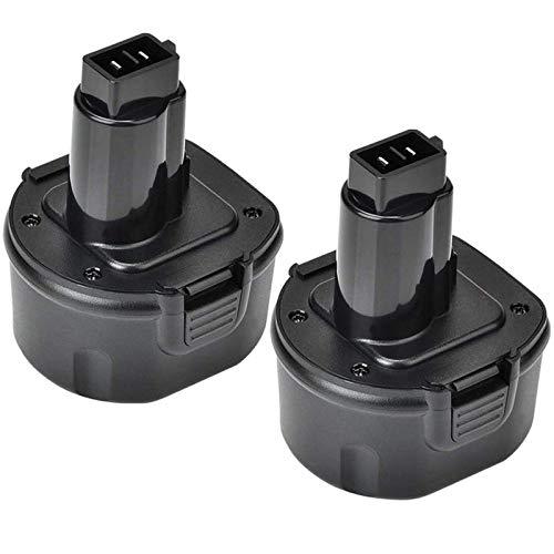 2 Packs 9.6V 3600mAh Ni-Mh Replacement for 9.6 Volt Battery DW9061 DW9062 DE9036 DE9062 DW9614 Cordless Power Tools