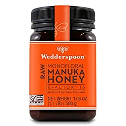 Wedderspoon Raw Premium Manuka Honey KFactor 16, 17.6 Oz, Unpasteurized, Genuine New Zealand Honey, Multi-Functional, Non-GMO Superfood