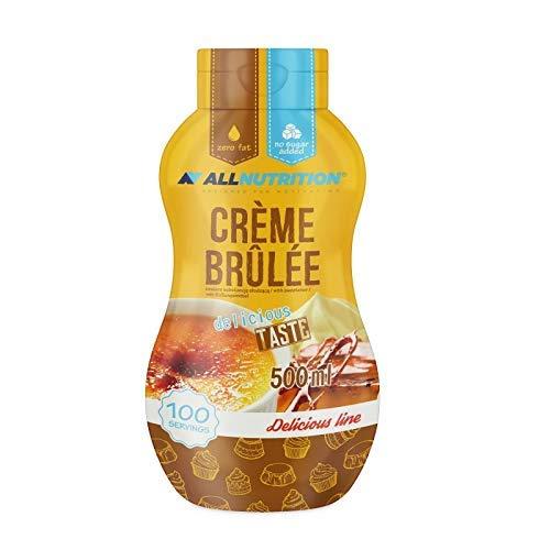 ALLNUTRITION Sauce Sirup Weniger Fett Zucker als herkömmlicher Sirup 500ml (Creme Brulee)