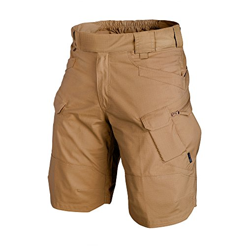 Helikon-Tex Men UTK Shorts Coyote Polycotton Ripstop Waist 34 Length 11, Urban Line Urban Tactical Shorts