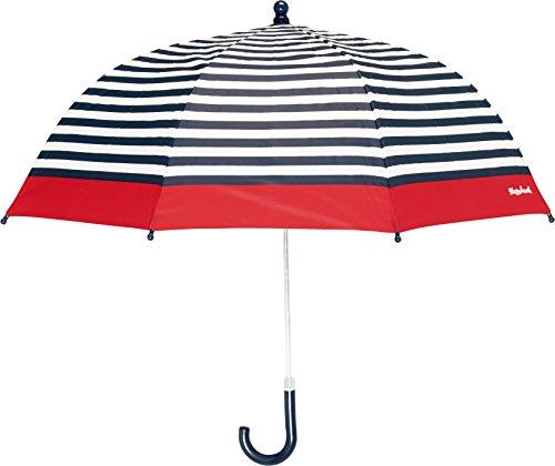 Playshoes Kinder Regenschirm Maritim, One Size Schirm mit kindgerechtem Mechanismus, Diameter 70 cm, gestreift