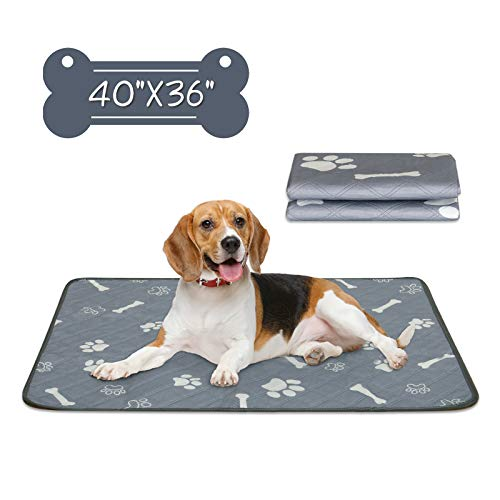 Niubya Washable Pee Pads for Dogs, Fast Absorbing Reusable Puppy Training Pad, Waterproof Doggie...
