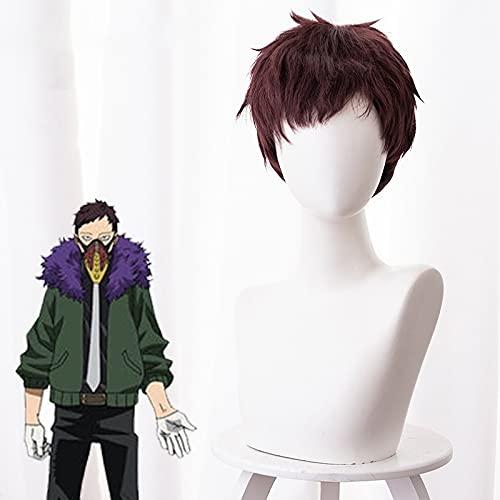 My Hero Academia: Overhaul / Chisaki Kai, pelo corto de color marrón rojo, Personajes de anime Cosplay Cosplay Cabello corto, Pelucas de Moda de Hombre Utilizadas para Comic Con y Halloween Party