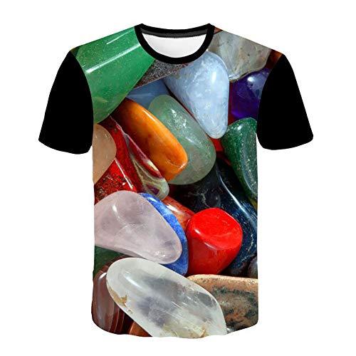 MAYOGO Herren Tshirt 3D T Shirt Kurzarm Hemd Crew Neck Noos T-Shirt Casual Sommer Herrenshirt Tops