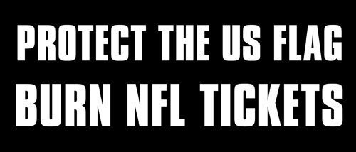 VinMea Protect The US Flag Burn NFL Tickets, Aufkleber (Pro Trump Hymne), 7,6 x 17,8 cm