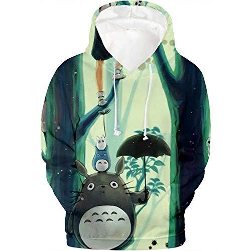 YOSSS Mein Nachbar Totoro 3D Hoodie Animation Sweatshirt Herbst Winter Herren Langarm Pullover Sportswear Mode 3D Kleidung