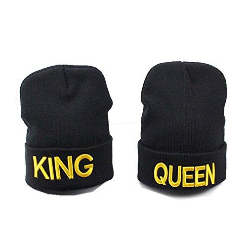 MIUNIKO 2PCS Fashion King and Queen Skullies Hood...